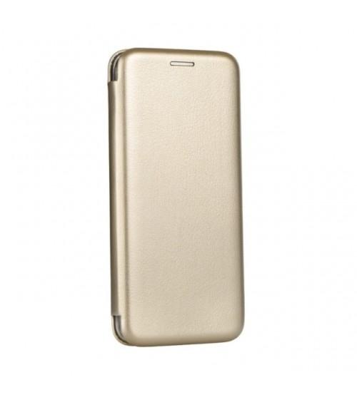 Калъф за Samsung A7 2018 A750FN флип тефтер златен Lux
