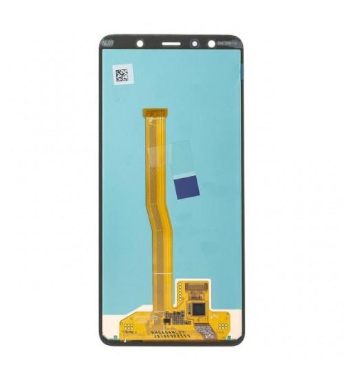 Дисплей с тъч скрийн и стъкло за Samsung A7 2018 A750 черен