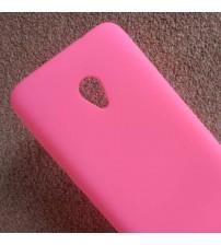 Силиконов калъф за Alcatel U5 5044D розов гръб Lux