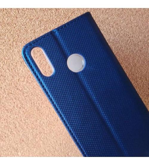Калъф за Huawei Honor 8X флип тефтер син Book