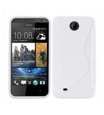 Калъф за HTC Desire 300 силиконов гръб S-line бял