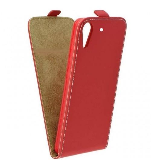 Калъф тефтер за HTC Desire 626G червен Flexi