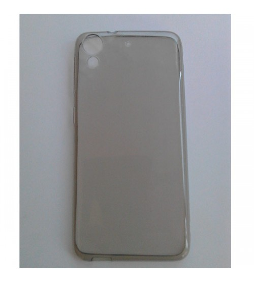 Силиконов калъф за HTC Desire 650 прозрачен гръб smoked