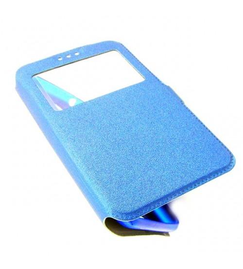 Калъф за HTC Desire 650 флип тефтер Book син
