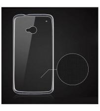 Силиконов калъф за HTC One M7 прозрачен гръб