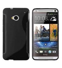 Силиконов калъф за HTC One M7 черен S-Line