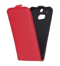 Калъф тефтер за HTC One M8 червен флип