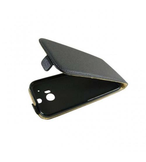 Калъф тефтер за HTC One M8 черен Flexi