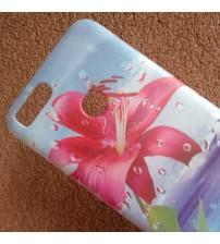 Калъф за Huawei P Smart силиконов гръб червено цвете