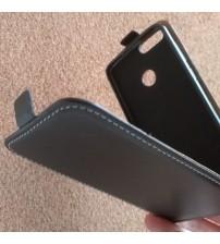 Калъф за Huawei P Smart флип тефтер черен Flexi