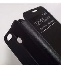 Калъф за Huawei P Smart тефтер с прозорче черен