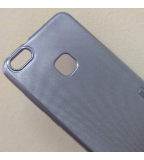 Калъф за Huawei P10 Lite силиконов гръб син Grid