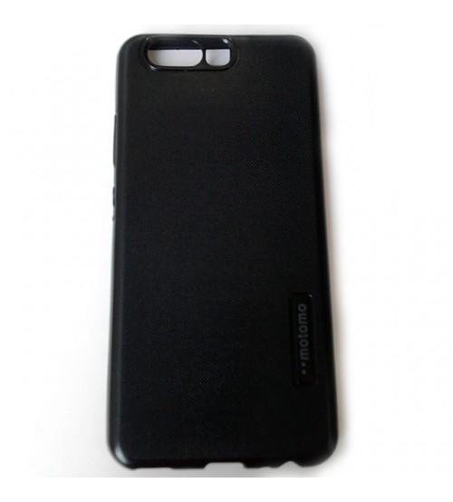 Калъф за Huawei P10 силиконов гръб черен Grid