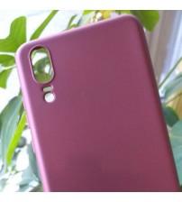 Силиконов калъф за Huawei P20 гръб бордо Lux