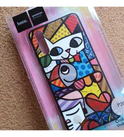 Калъф за Huawei P20 силиконов гръб HOCO CAT
