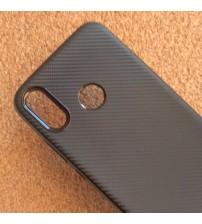 Силиконов калъф за Huawei P20 Lite гръб черен карбон