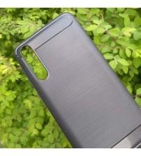 Силиконов калъф за Huawei P20 Pro гръб черен карбон Lux