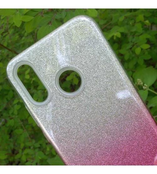Калъф за Huawei P30 Lite силиконов гръб Shine розов