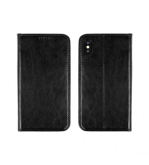 Калъф за Huawei P30 Lite кожен тефтер тип книга черен