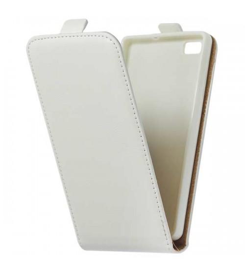 Калъф тефтер за Huawei P8 Lite бял flexi