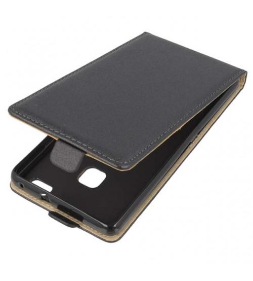 Калъф за Huawei P9 Lite флип тефтер черен flexi
