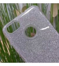 Калъф за Huawei P9 Lite Mini силиконов гръб сребрист брокат