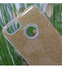 Калъф за Huawei P9 Lite Mini силиконов гръб златен брокат