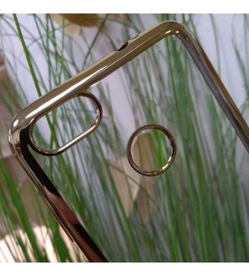 Калъф за Huawei P9 Lite Mini силиконов гръб златен кант