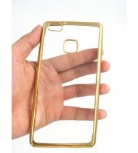 Калъф за Huawei P9 Lite - силиконов гръб Shine Gold