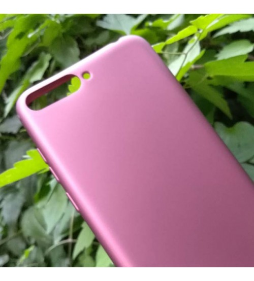 Калъф за Huawei Y6 2018 силиконов гръб лилав Lux
