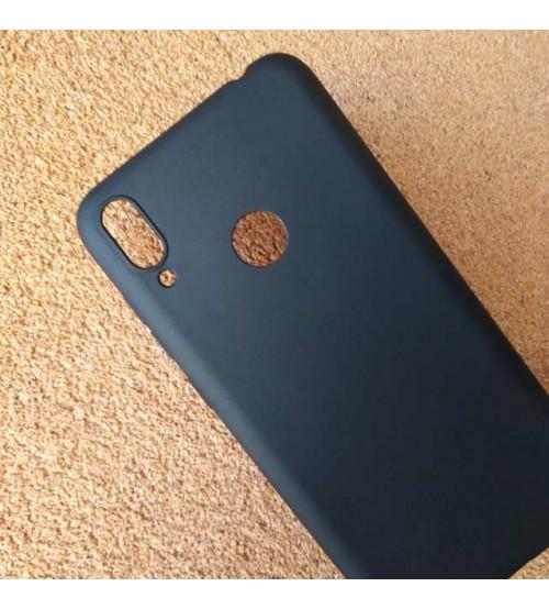 Калъф за Huawei Y7 2019 силиконов гръб черен мат