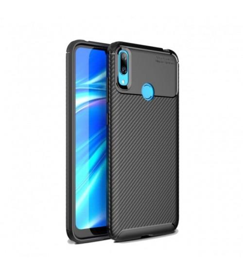 Калъф за Huawei Y7 2019 силиконов гръб черен Plaid