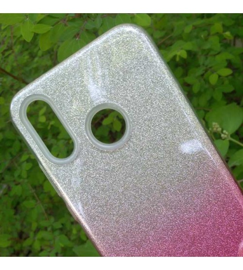 Калъф за Huawei Y7 2019 силиконов гръб Shine розов