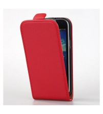 Калъф тефтер за Samsung S4 i9500 червен флип