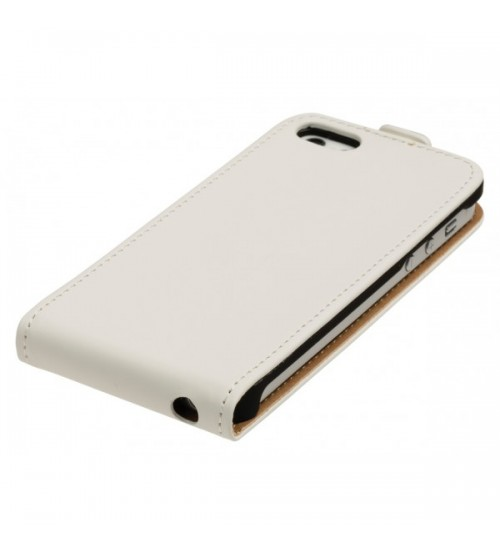 Калъф за Iphone 5s/5/SE флип тефтер бял