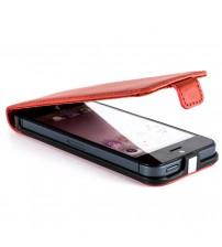Калъф за Iphone 5s/5/SE флип тефтер червен