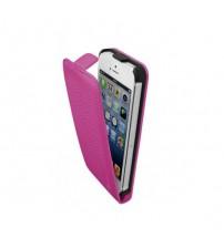 Калъф за Iphone 5s/5/SE флип тефтер розов