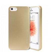Силиконов калъф за iPhone 5s / 5 / SE златен гръб Mercury