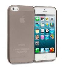 Силиконов калъф за Iphone 5s/5/SE прозрачен гръб smoked