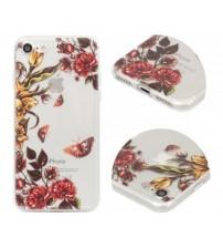 Калъф за iPhone 6 / 6s Flowers кейс прозрачен