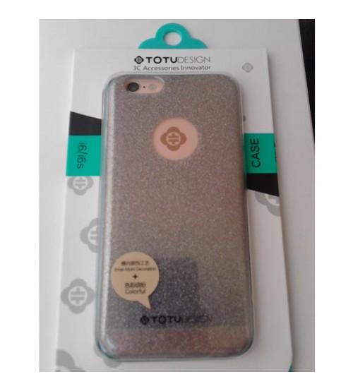 Силиконов калъф за iPhone 6/6s гръб бляскав брокат