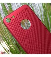 Калъф за iPhone 7 червен гръб Hard Plastic