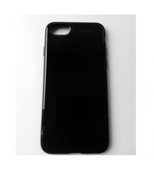 Силиконов калъф за iPhone 7 гръб черен Slim
