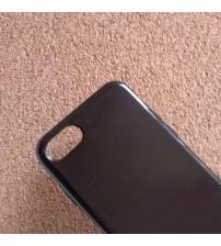 Силиконов калъф за iPhone 8 черен гръб гланц