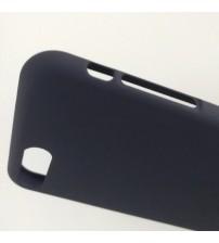 Силиконов калъф за iPhone 8 тъмно син гръб Lux
