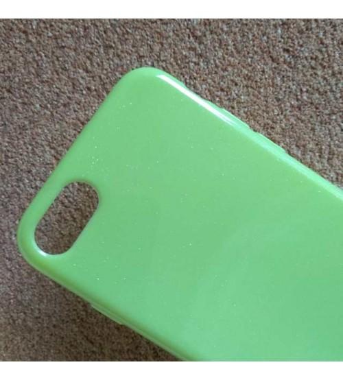 Силиконов калъф за iPhone 8 зелен гръб Candy