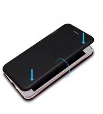 Калъф за iPhone SE 2020 флип тефтер черен Lux