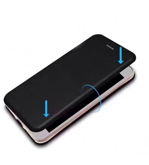 Калъф за iPhone X флип тефтер черен Lux