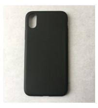 Силиконов калъф за iPhone X черен гръб Lux