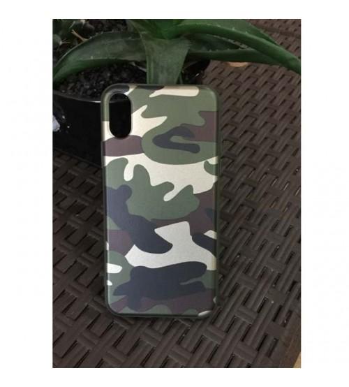 Силиконов калъф за iPhone X камуфлажен гръб
